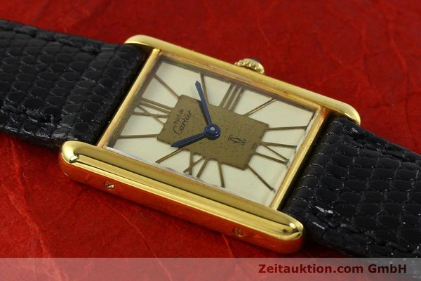 Used luxury watch Cartier Tank silver-gilt quartz Kal. 81  | 142343 11