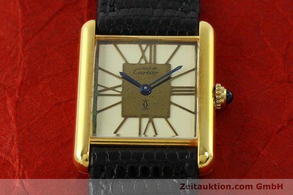 Used luxury watch Cartier Tank silver-gilt quartz Kal. 81  | 142343 12