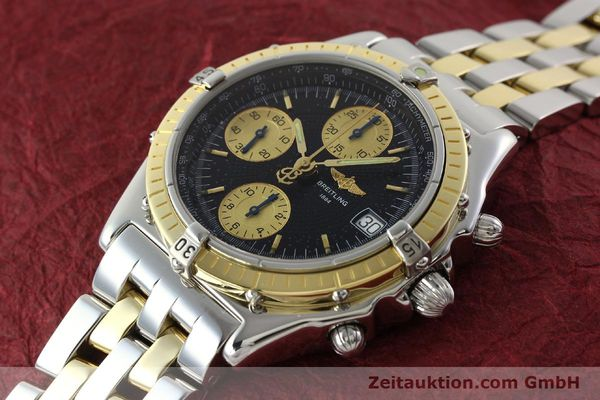 Used luxury watch Breitling Chronomat chronograph steel / gold automatic Kal. B13 ETA 7750 Ref. D13050.1  | 142344 01