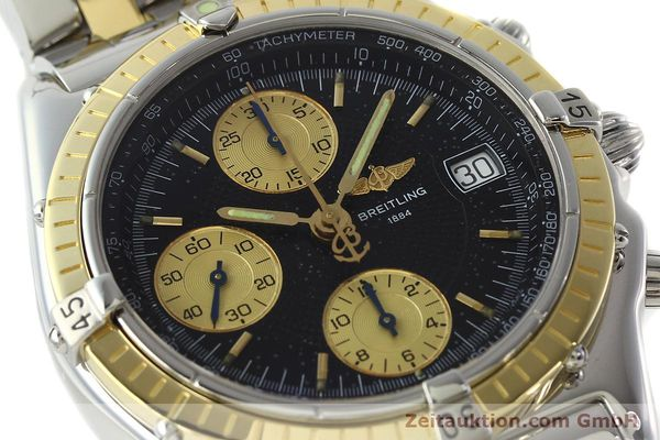 Used luxury watch Breitling Chronomat chronograph steel / gold automatic Kal. B13 ETA 7750 Ref. D13050.1  | 142344 02