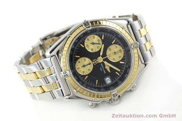Used luxury watch Breitling Chronomat chronograph steel / gold automatic Kal. B13 ETA 7750 Ref. D13050.1  | 142344 03