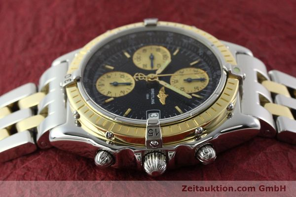 Used luxury watch Breitling Chronomat chronograph steel / gold automatic Kal. B13 ETA 7750 Ref. D13050.1  | 142344 05