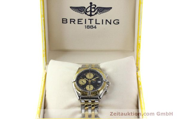 Used luxury watch Breitling Chronomat chronograph steel / gold automatic Kal. B13 ETA 7750 Ref. D13050.1  | 142344 07