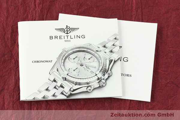 Used luxury watch Breitling Chronomat chronograph steel / gold automatic Kal. B13 ETA 7750 Ref. D13050.1  | 142344 13