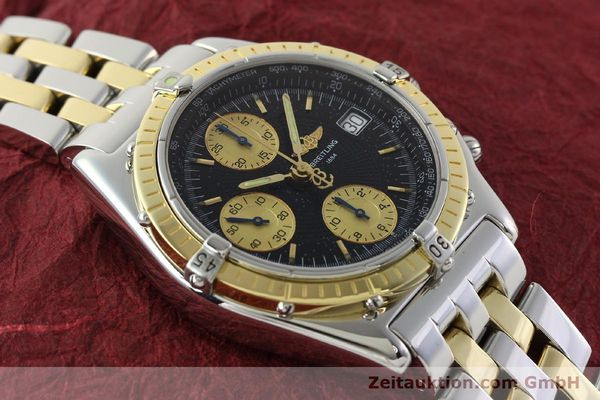 Used luxury watch Breitling Chronomat chronograph steel / gold automatic Kal. B13 ETA 7750 Ref. D13050.1  | 142344 16