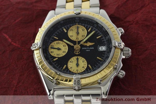 Used luxury watch Breitling Chronomat chronograph steel / gold automatic Kal. B13 ETA 7750 Ref. D13050.1  | 142344 17