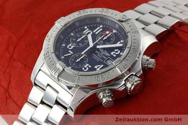 Used luxury watch Breitling Avenger chronograph steel automatic Kal. B13 ETA 7750 Ref. A13380  | 142345 01