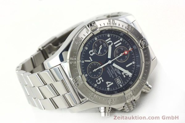 Used luxury watch Breitling Avenger chronograph steel automatic Kal. B13 ETA 7750 Ref. A13380  | 142345 03