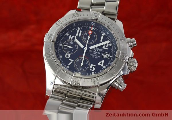 Used luxury watch Breitling Avenger chronograph steel automatic Kal. B13 ETA 7750 Ref. A13380  | 142345 04
