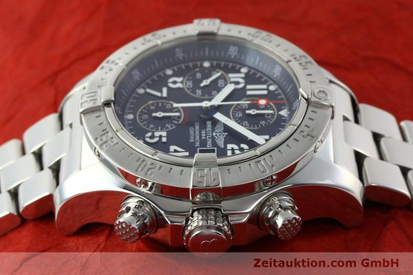 Used luxury watch Breitling Avenger chronograph steel automatic Kal. B13 ETA 7750 Ref. A13380  | 142345 05
