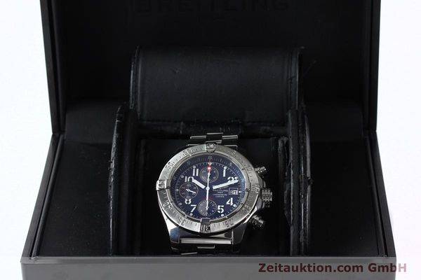 Used luxury watch Breitling Avenger chronograph steel automatic Kal. B13 ETA 7750 Ref. A13380  | 142345 07