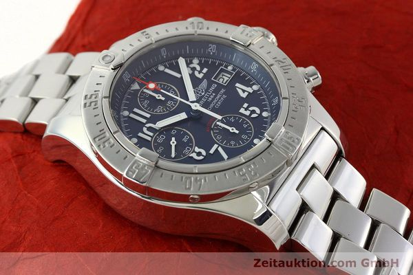 Used luxury watch Breitling Avenger chronograph steel automatic Kal. B13 ETA 7750 Ref. A13380  | 142345 17