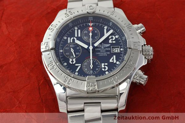 Used luxury watch Breitling Avenger chronograph steel automatic Kal. B13 ETA 7750 Ref. A13380  | 142345 18