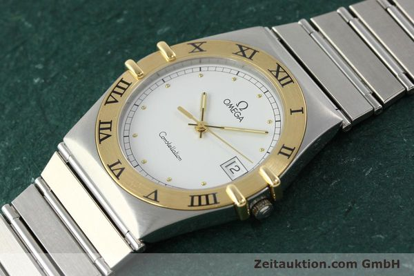 Used luxury watch Omega Constellation steel / gold quartz Kal. 1438 ETA 255461  | 142346 01