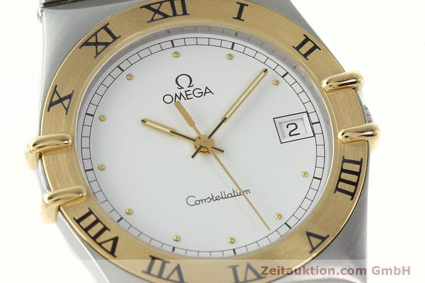 Used luxury watch Omega Constellation steel / gold quartz Kal. 1438 ETA 255461  | 142346 02