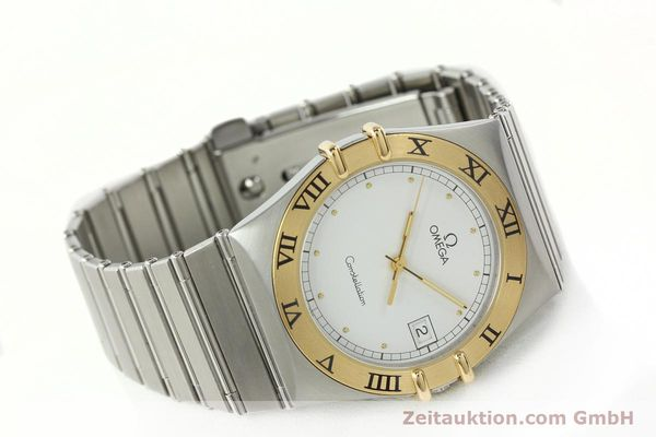 Used luxury watch Omega Constellation steel / gold quartz Kal. 1438 ETA 255461  | 142346 03