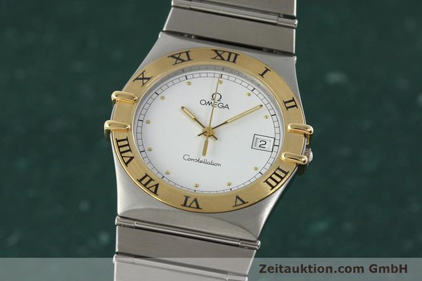 Used luxury watch Omega Constellation steel / gold quartz Kal. 1438 ETA 255461  | 142346 04