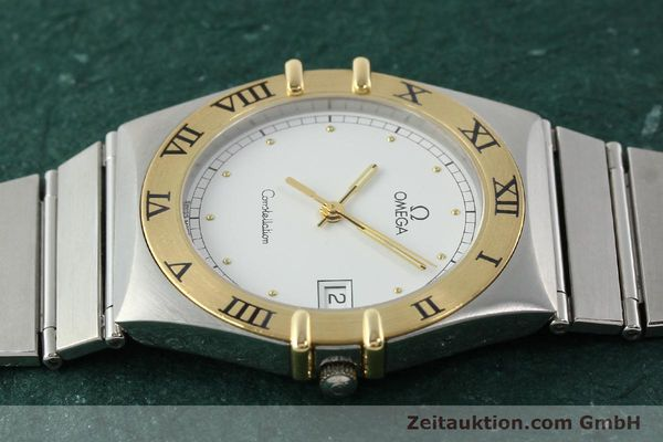 Used luxury watch Omega Constellation steel / gold quartz Kal. 1438 ETA 255461  | 142346 05