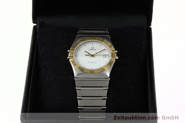 Used luxury watch Omega Constellation steel / gold quartz Kal. 1438 ETA 255461  | 142346 07
