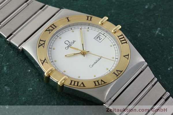 Used luxury watch Omega Constellation steel / gold quartz Kal. 1438 ETA 255461  | 142346 12