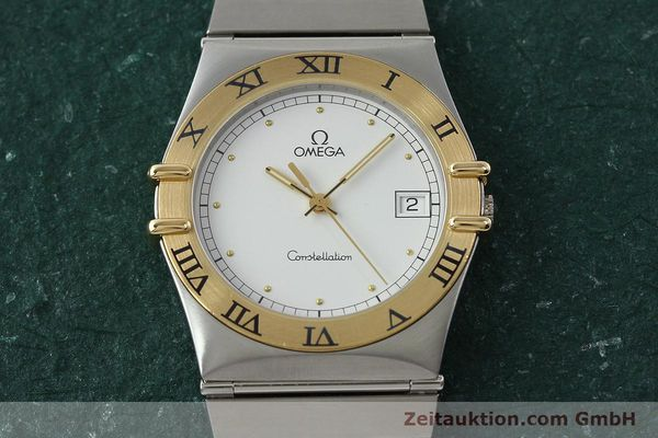 Used luxury watch Omega Constellation steel / gold quartz Kal. 1438 ETA 255461  | 142346 13