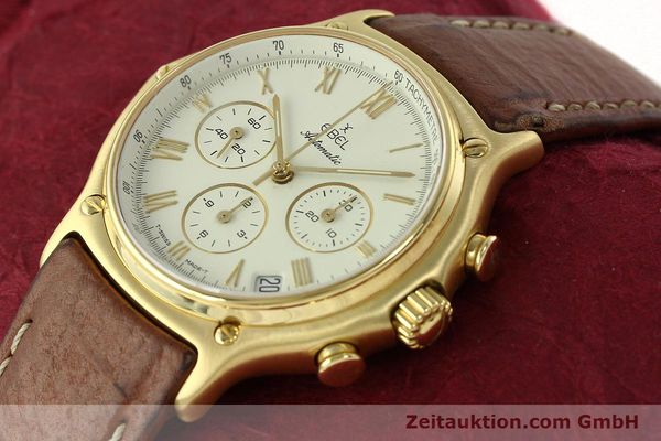 Used luxury watch Ebel 1911 chronograph 18 ct gold automatic Kal. 134 400 Ref. 8134901  | 142347 01