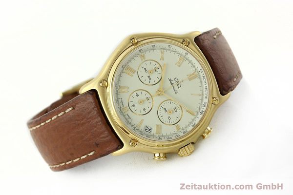 Used luxury watch Ebel 1911 chronograph 18 ct gold automatic Kal. 134 400 Ref. 8134901  | 142347 03