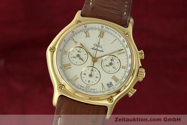 Used luxury watch Ebel 1911 chronograph 18 ct gold automatic Kal. 134 400 Ref. 8134901  | 142347 04