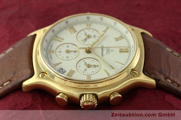 Used luxury watch Ebel 1911 chronograph 18 ct gold automatic Kal. 134 400 Ref. 8134901  | 142347 05