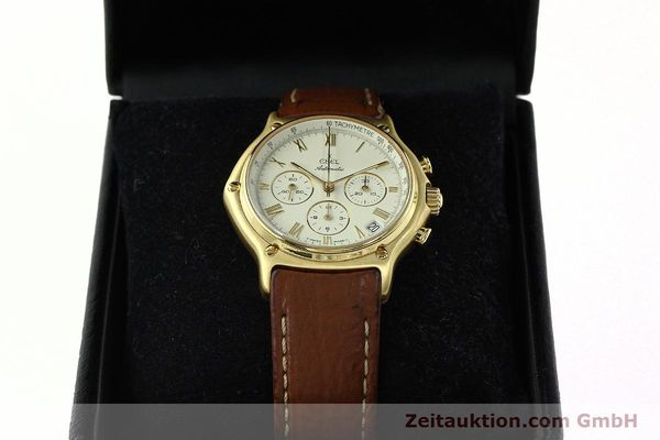 Used luxury watch Ebel 1911 chronograph 18 ct gold automatic Kal. 134 400 Ref. 8134901  | 142347 07