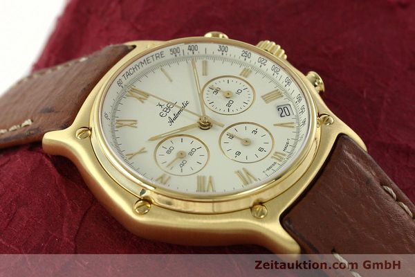 Used luxury watch Ebel 1911 chronograph 18 ct gold automatic Kal. 134 400 Ref. 8134901  | 142347 14