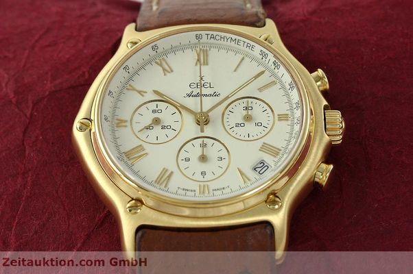 Used luxury watch Ebel 1911 chronograph 18 ct gold automatic Kal. 134 400 Ref. 8134901  | 142347 15