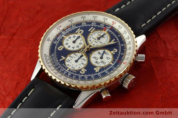 Used luxury watch Breitling Navitimer chronograph steel / gold automatic Kal. B33 ETA 2892-2 Ref. D33030  | 142348 01