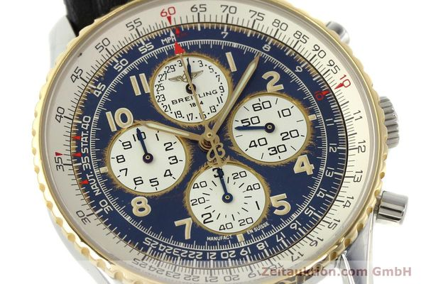 Used luxury watch Breitling Navitimer chronograph steel / gold automatic Kal. B33 ETA 2892-2 Ref. D33030  | 142348 02
