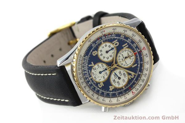 Used luxury watch Breitling Navitimer chronograph steel / gold automatic Kal. B33 ETA 2892-2 Ref. D33030  | 142348 03