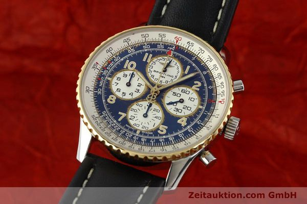 Used luxury watch Breitling Navitimer chronograph steel / gold automatic Kal. B33 ETA 2892-2 Ref. D33030  | 142348 04