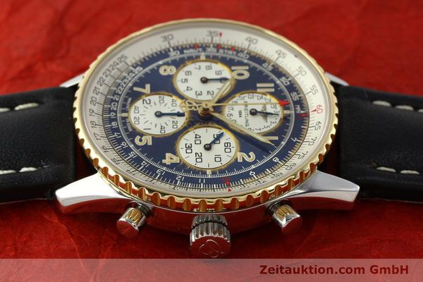 Used luxury watch Breitling Navitimer chronograph steel / gold automatic Kal. B33 ETA 2892-2 Ref. D33030  | 142348 05