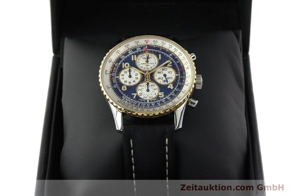 Used luxury watch Breitling Navitimer chronograph steel / gold automatic Kal. B33 ETA 2892-2 Ref. D33030  | 142348 07