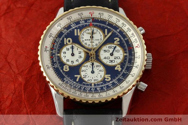 Used luxury watch Breitling Navitimer chronograph steel / gold automatic Kal. B33 ETA 2892-2 Ref. D33030  | 142348 14