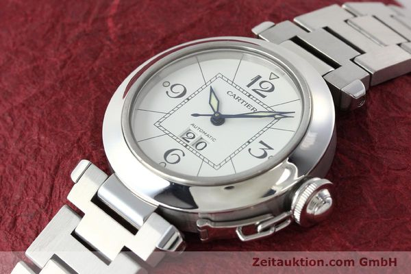 Used luxury watch Cartier Pasha steel automatic Kal. 052 ETA 2892A2  | 142349 01
