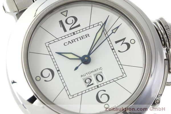 Used luxury watch Cartier Pasha steel automatic Kal. 052 ETA 2892A2  | 142349 02