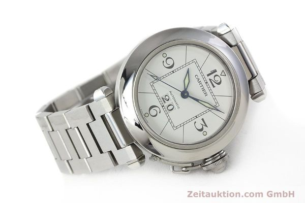 Used luxury watch Cartier Pasha steel automatic Kal. 052 ETA 2892A2  | 142349 03
