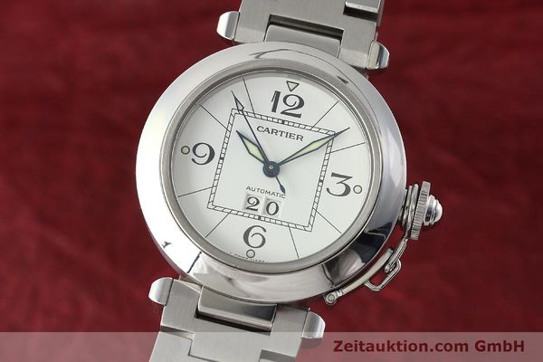 Used luxury watch Cartier Pasha steel automatic Kal. 052 ETA 2892A2  | 142349 04