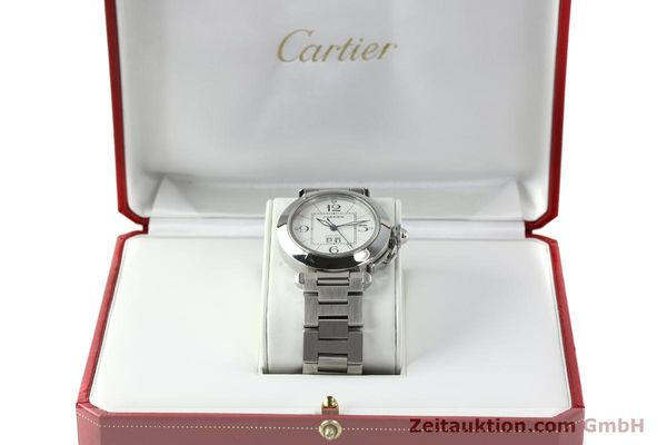 Used luxury watch Cartier Pasha steel automatic Kal. 052 ETA 2892A2  | 142349 07