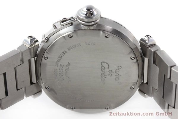 Used luxury watch Cartier Pasha steel automatic Kal. 052 ETA 2892A2  | 142349 09