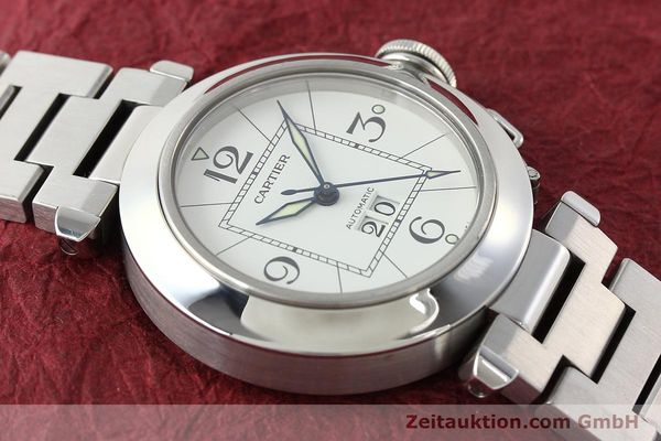 Used luxury watch Cartier Pasha steel automatic Kal. 052 ETA 2892A2  | 142349 16