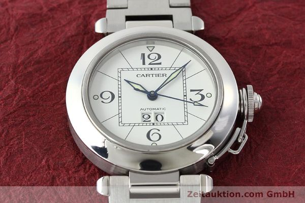 Used luxury watch Cartier Pasha steel automatic Kal. 052 ETA 2892A2  | 142349 17