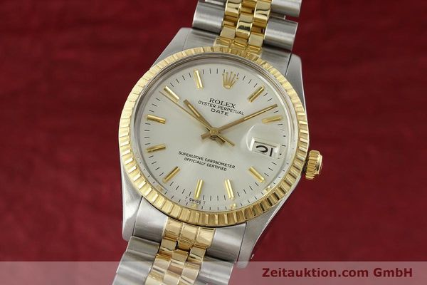 Used luxury watch Rolex Date steel / gold automatic Kal. 3035 Ref. 15053  | 142357 04