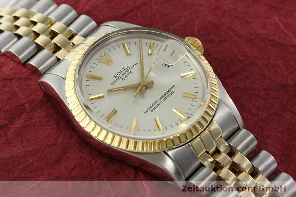 Used luxury watch Rolex Date steel / gold automatic Kal. 3035 Ref. 15053  | 142357 14