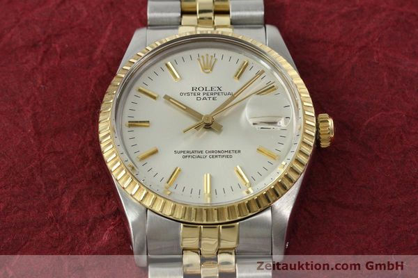 Used luxury watch Rolex Date steel / gold automatic Kal. 3035 Ref. 15053  | 142357 15